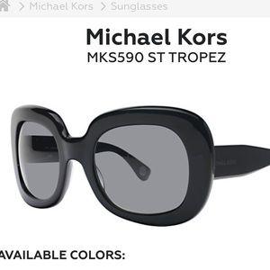 Michael Kors St Tropez sunglasses in black.